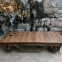 handmade railway coffee table