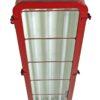 Volledig gerestaureerde bunkerlamp, industriële hanglamp met 5 jaar garantie. Verkrijgbaar in elke RAL kleur en met 3 DIMBARE led tl buizen in bv. warm wit.