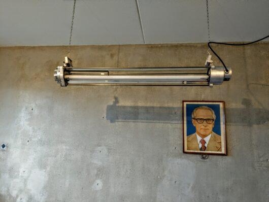 Vintage gerestaureerde bunkerlamp